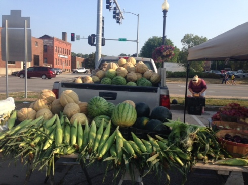 Truckload of melons